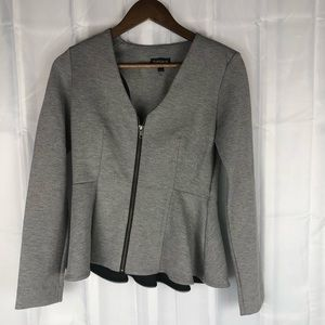 Topshop business casual peplum style zip up jacket